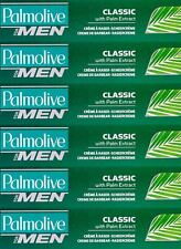 6 X PALMOLIVE CLASSIC LATHER SHAVE SHAVING CREAM 100ML. WITH PALM EXTRACT.