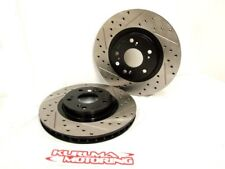 REAR LEFT /& RIGHT Stoptech SportStop Drilled Slotted Brake Rotors STR44090