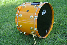"""RARE dw USA 24"""" BASS DRUM AMBER or INCA GOLD w/ GOLD HARDWARE for DRUM SET D485"""