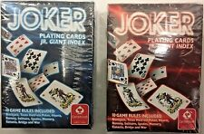 CARTAMUNDI JOKER Playing Cards, Jr Giant Index, RED
