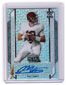 2021 Leaf Metal Mac Jones Rookie Auto Autograph Mojo Card Patriots #D /30 !!!