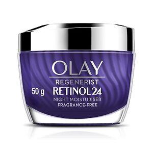 Olay Regenerist Retinol 24 Night Moisturiser Cream Resurfaces & Renews Skin 50g