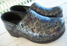 Dansko Professional Clogs~Embossed Floral Metallic~Women's EU 41/US 10.5 - 11