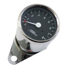 Mini Drehzahlmesser 2:1 Ratio, Chrom-Schwarz, 60mm, für Harley-Davidson FL, XL
