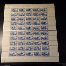 FEUILLE SHEET CITÉ DE CARCASONNE N°490 x50 EN 2 PARTIES 1940 NEUF ** LUXE MNH