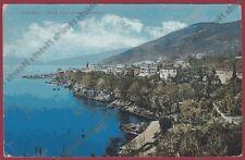 CROAZIA LAURANA 07 Hrvatska LOVRAN HOTEL ALBERGO Cartolina viaggiata 1919