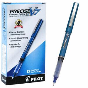 Pilot Precise V7 35349 0.7mm Fine Blue Liquid Ink Rolling Ball Pen, Box of 12
