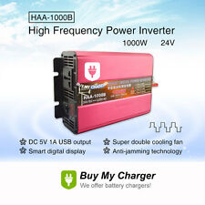 DC 24v to AC 220v 1000w 2000W(Peak) Solar Power Inverter w/ Digital display&USB