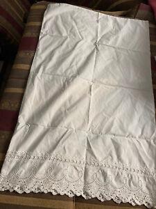 One White Cotton Lace Edged Standard Pillowcase