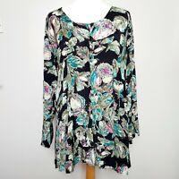 MASAI CLOTHING COMPANY (Size L/UK 14-16) Long Floral Print Tunic Top