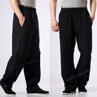 100% Cotton Kung Fu Martial Arts Shaolin Bruce Lee Wing chun Casual Pants Men