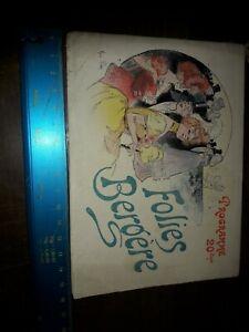 Programme Folies Bergère 1900
