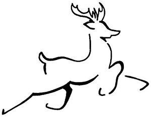 Unmounted Rubber Stamp - Brushed Reindeer