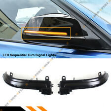 FOR 13-18 BMW 1 2 3 4 SERIES SMOKED LENS SEQUENTIAL LED SIDE MIRROR TURN SIGNAL