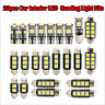 23Pcs Car LED Interior Reading Light Bulb Trunk Door Replacement Lamp White Kits