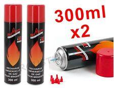 Recharge gaz Butane 300ML pour Briquet x2 BOUTEILLES Livraison EXPRESS Gratuite