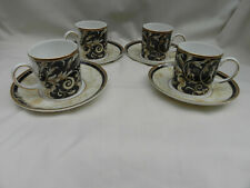 More details for wedgwood cornucopia 4 x coffee cups & saucers  excellent bicentenary backstamp.