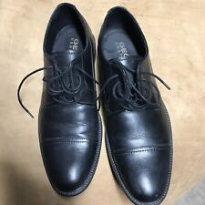 Mens Geox Perspira Black Leather Shoes, Size Euro 40, Us 7.5