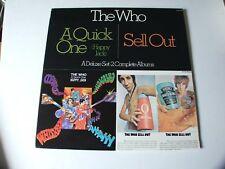 "THE WHO 2 ALBUM SET ""A QUICK ONE"" & ""SELL OUT"" MCA2-4067 1980 VERY NICE !!!!!"