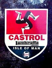 ISLE OF MAN LAMBRETTA Vinyl Decal Sticker PROMO CUSHMAN VESPA SCOOTER CASTROL
