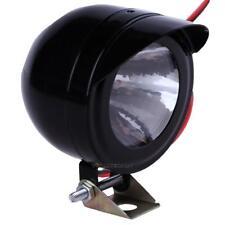 8V-100V 3W LED Motorcycle Front Metal Headlight Fog Spot Light Lamp White 400LM