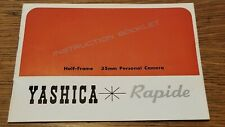 Yashica Rapide Film Camera Instruction Booklet