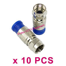 10pcs Professional RG6 Coax Coaxial Compression Fitting F Connector Adapter Plug