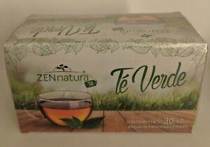 Zennatura Te Verde Mexicano (100% Camellia Sinensis) GREEN TEA 30 Bags 2 g. ea