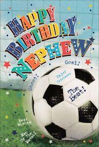 Nephew Happy Birthday Card, Football