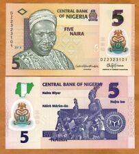 Nigeria, 5 naira, 2018, P-New, POLYMER, UNC > DZ, REPLACEMENT