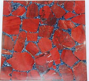 Handmade Semi precious Natural Red Jasper stone coffee Only table top Home Decor