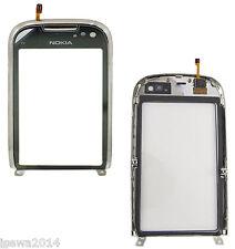 Véritable Nokia C7-00 écran tactile numériseur lentille capot avant en verre avec cadre SR