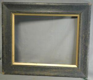 Antique 1905 Dark Oak Gold Fillet Arts Crafts Ogee Picture Frame 14x18 Vintage