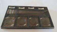 ENGAVE  ELEPHANTS SILVER STYLE  BOX CHOPSTICK / REST/ BOWL  4X4X4