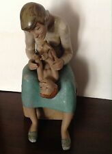 "Vintage Lladro Gres Collection ""Gentle Play"" Figurine #2217 Used Retired"
