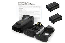 Vertical Battery Grip Holder for Nikon D750 Camera + 2x EN-EL15 Li-ion Battery