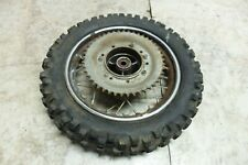 98 KTM 50 SXR 50SXR Dirt Bike rear back wheel rim and tire straight