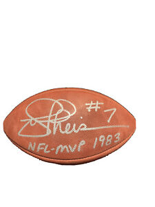 Joe Theismann Autographed NFL Football Washington Redskins 1983 NFL MVP/ JSA