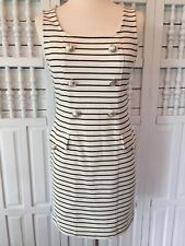 Forever 21 Women's black and cream sheath dress shiny buttons size S/P