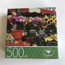 "Cardinal 500 Piece Jigsaw Puzzle Provence Market France 11""x14"" Family Activity"