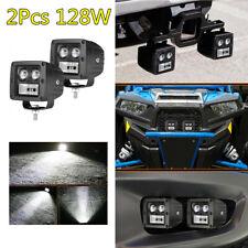 3in 128W LED Light Bar Fog Lamp Driving Work Lamp Combo For Car Jeep ATV 2Pcs