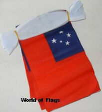 SAMOA BUNTING Western Samoan Flag 9m 30 Fabric Party Flags Oceania