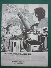 11/1981 PUB AIR FRANCE AIRLINE PREMIERE CHAMPAGNE ART DE VIVRE FRENCH AD