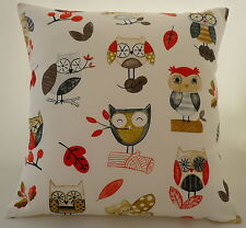 "Cushion cover in Prestigious Ollie Owl fabric 17""/ 43cm square"