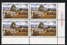Canada #601(41) 1972 $2.00 Quebec LOWER RIGHT PLATE BLOCK #1 MNH CV$30.00