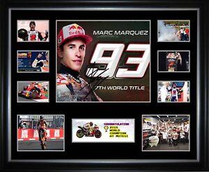Marc Marquez 2018 MotoGP Champion Signed Framed Memorabilia