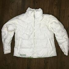 Columbia White Down Full Zip Puffer Winter Coat Jacket - Size XL