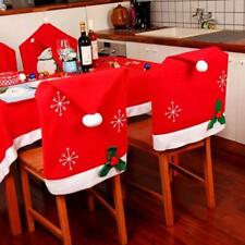 1x Christmas Santa Hat Dining Chair Back Covers Party Xmas Table Decoration