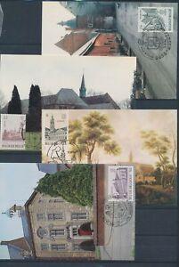 XC79320 Belgium 1984 monuments landmarks maxicards used