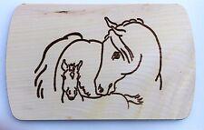 Frühstücksbrettchen Frühstücksbrett Gravur Pferd Fohlen Vesper Holz Namen Brett